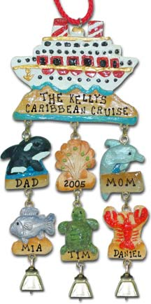 Vacation Christmas Ornaments